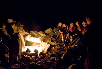 relax around campfire or in your luxury cabin