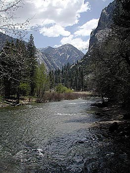 Undisturbed creeks and lakes in Sequoia National Park
